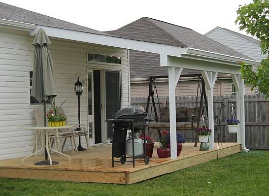 Outdoor Living: front porch without roof